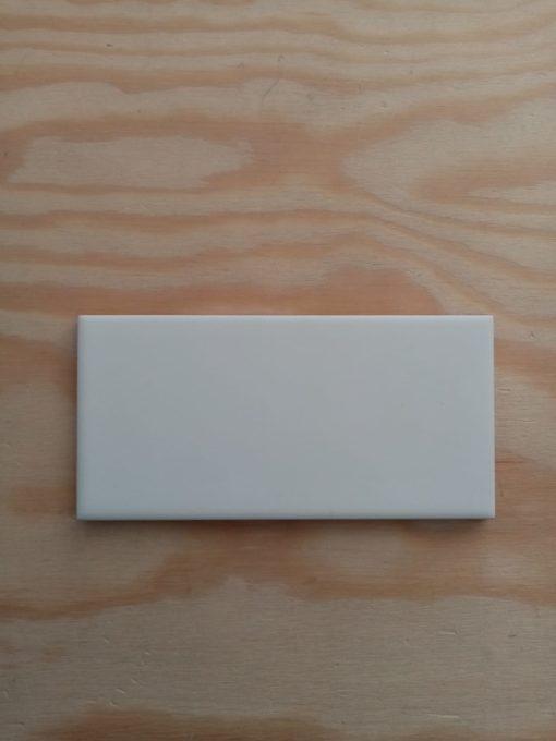 Carrelage métro 7,5x15 Blanc mat plat