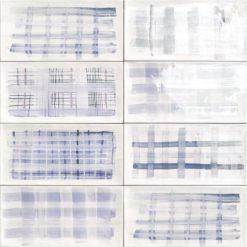 Carrelage decoré Aquarel bleu 15x30