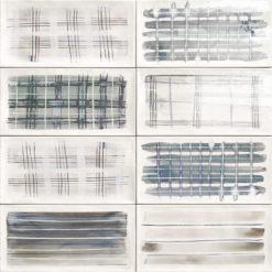 Carrelage decoré Aquarel gris 15x30