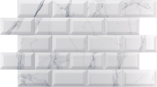 Carrelage métro marbre calacatta gris 10x20