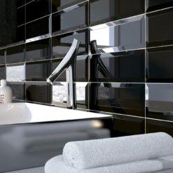 Carrelage Métro noir 10x30