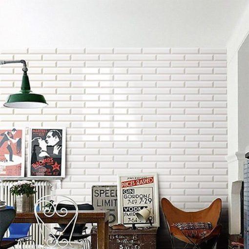 Carrelage Métro blanc 7,5x30