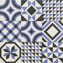 Carrelage ciment Trinity bleu 20x20