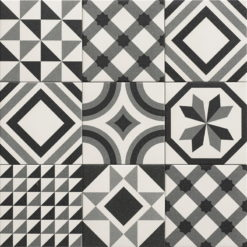 Carrelage ciment Trinity noir 20x20