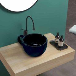 Lavabo Céramique Tasse noire
